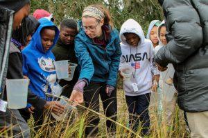 little kids in the marsh