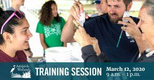 People sampling Georgia coastal waters at an Adopt-A-Wetland training workshop.